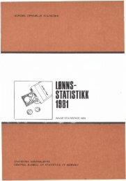 Lønnsstatistikk 1981 - SSB