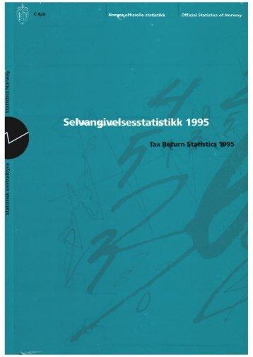 Selvangivelsesstatistikk 1995 - SSB