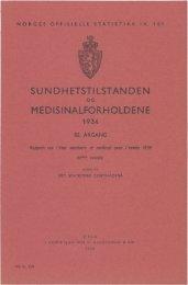 Sundhetstilstanden og medisinalforholdene 1934 - SSB