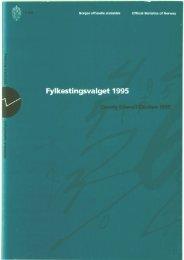 Fylkestingsvalget 1995 (NOS C 343) - Statistisk sentralbyrå