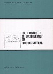 Lov, forskrifter og overenskomst om folkeregistrering, 1971