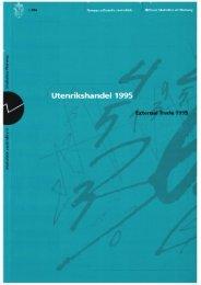 Utenrikshandel 1995 - Statistisk sentralbyrå