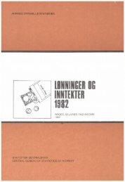 Lønninger og inntekter 1982 - SSB