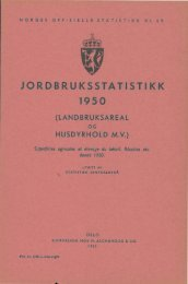 JORDBRUKSSTATISTIKK 1950. (LANDBRUKSAREAL OG ... - SSB