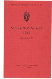 Stortingsvalget 1961 - SSB