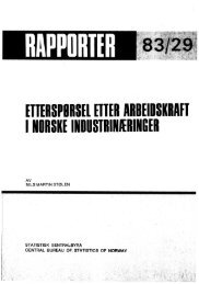 Etterspørsel etter arbeidskraft i norske industrinæringer / Nils ... - SSB