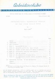 Probabilistic Fertilty Models of the Life Table Type - Statistisk ...
