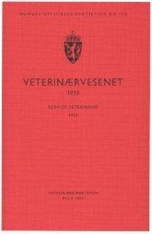 Veterinærvesenet 1959