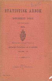Statistisk årbok for kongeriket Norge 1924 - SSB