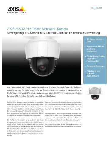AXIS P5532 Ptz-Dome Netzwerk-Kamera - Data Components K+S ...