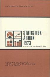 Statistisk Årbok 1973 - SSB
