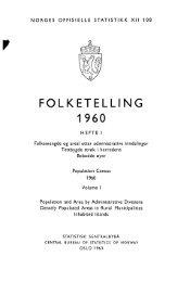 Folketelling 1960 Hefte I - Statistisk sentralbyrå