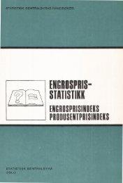 Engrospris-statistikk. Engrosprisindeks, produsentprisindeks, 1978