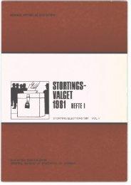 Stortingsvalget 1981: Hefte I (NOS B 261) - SSB