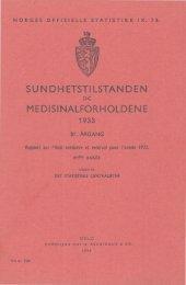 Sundhetstilstanden og medisinalforholdene 1933. 81. årgang - SSB
