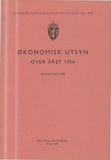 XI 190 1954 - Statistisk sentralbyrå