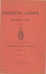 Statistisk aarbok for kongeriket Norge 1919 - SSB
