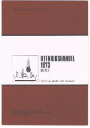 A 651 1973 Hefte 1. - Statistisk sentralbyrå