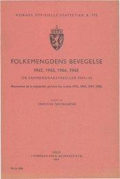 folkemengdens bevegelse 1942, 1943, 1944, 1945. og ... - SSB