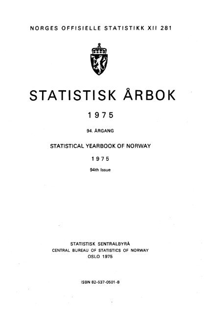 Statistisk årbok 1975 - SSB