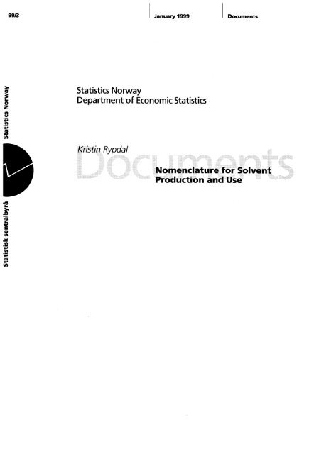 K. Rypdal: Nomenclature for Solvent Production and Use - SSB