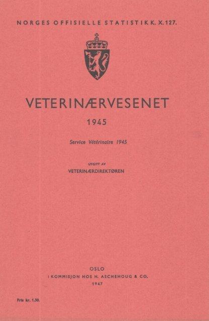 Veterinærvesenet 1945