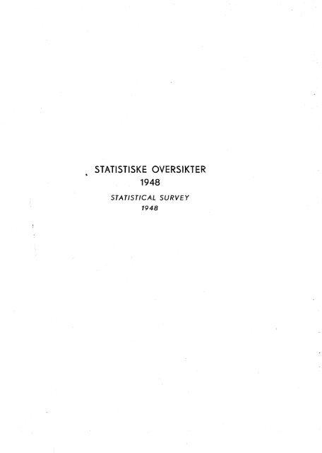 Statistiske oversikter 1948 - SSB