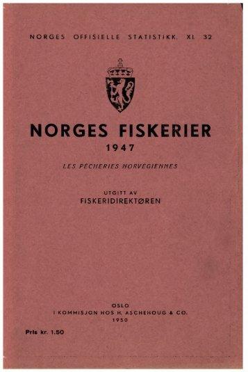 Norges fiskerier 1947 - SSB
