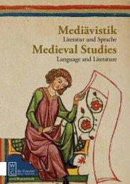 Mediävistik Medieval Studies - Walter de Gruyter