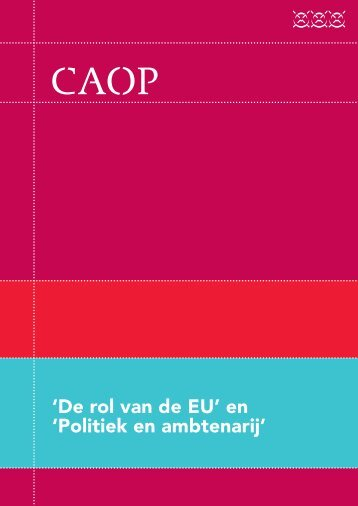 Oraties van professor mr. A. (Alexander) de Becker en ... - CAOP