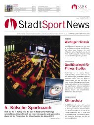 StadtSportNews - StadtSportBund Köln