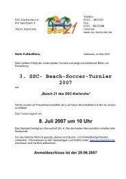 3. SSC- Beach-Soccer-Turnier 2007