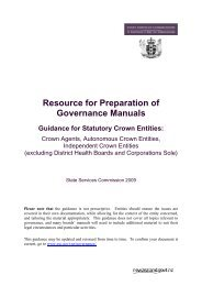 Resource for Preparation of Governance Manuals - State Services ...