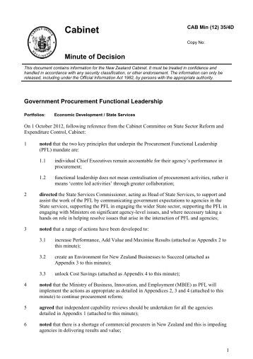 Government Procurement Functional Leadership - State Services ...