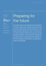 Preparing for the future - State Services Commission