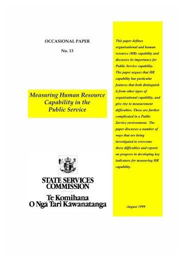 Human Resources Capability Framework Assessment Levels 4-6