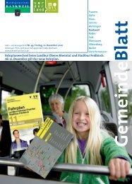 Fahrplanwechsel beim Landbus Oberes Rheintal und Stadtbus ...