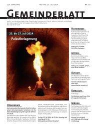 GBG2014 Woche 30 - Marktgemeinde Götzis