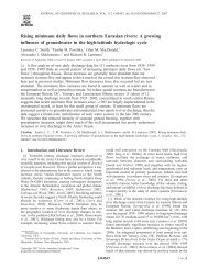 Rising minimum daily flows in northern Eurasian rivers: A ... - UCLA