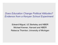Does Education Change Political Attitudes? Evidence from a ...