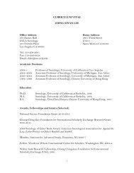 CURRICULUM VITAE - Social Sciences Division - UCLA