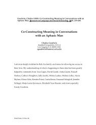 Co-Constructing Meaning in Conversations with an Aphasic Man