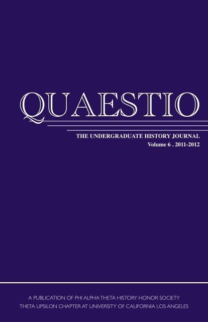 QUAESTIO - Social Sciences Division - UCLA