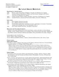RA'ANAN SHAUL BOUSTAN - Social Sciences Division - UCLA