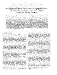 Attitudes toward Family Obligations among American Adolescents ...