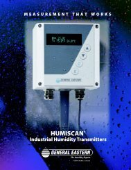 Humiscan® Industrial Humidity Transmitters Specifications