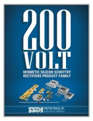 Table of Contents 200 Volt Hermetic Silicon Schottky Rectifiers