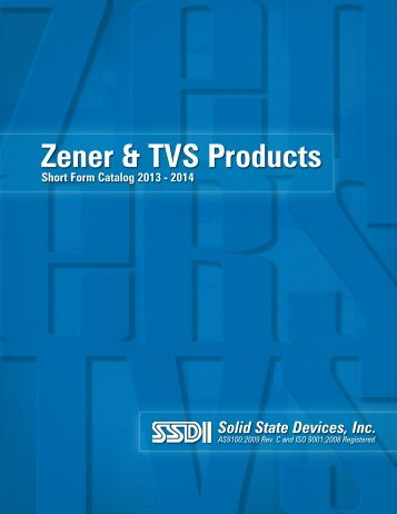 Zener & TVS Products - Solid State Devices, Inc.