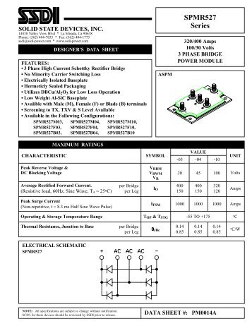 SPMR527 Series - Solid State Devices, Inc.