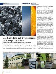 Stahlherstellung und Grobzerspanung rücken enger  zusammen